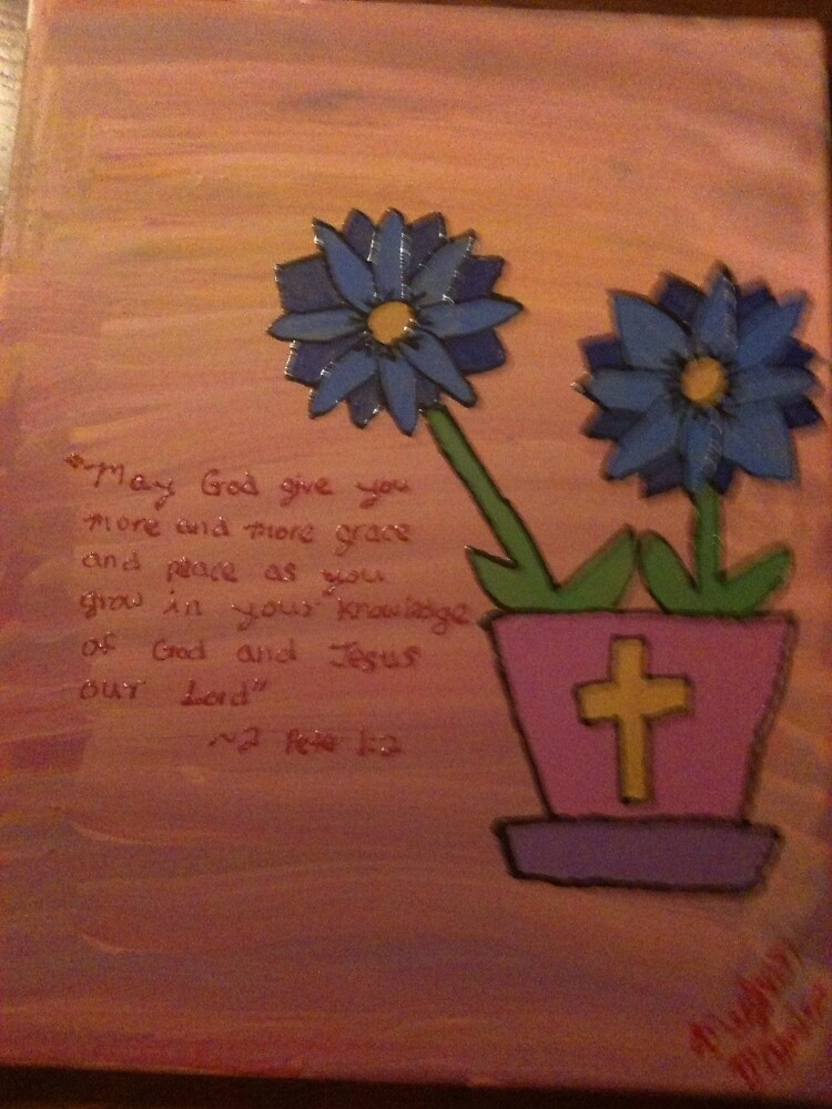 2 Peter 1:2 Flower Painting by artbymeghand