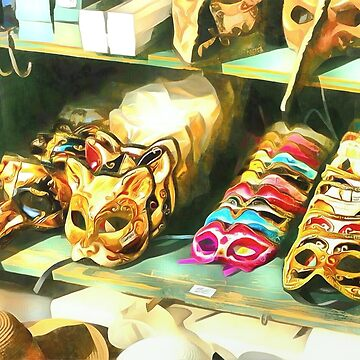 Ventian Masks Stand by colorARTillery
