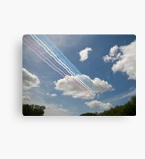 Red arrows on display. Canvas Print