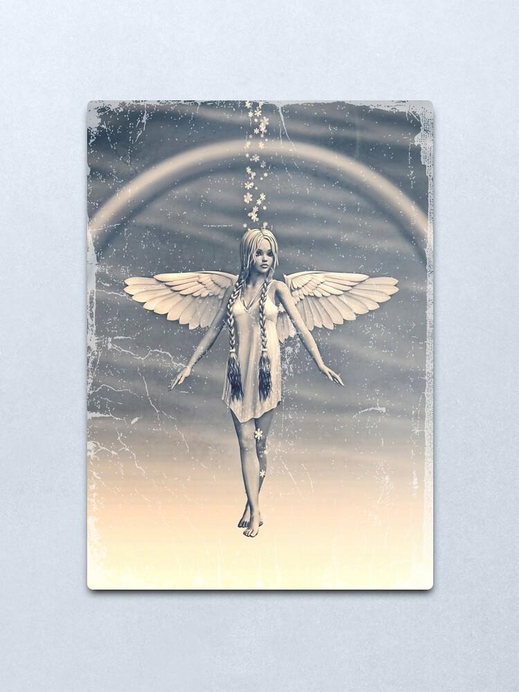 Alternate view of Angel under the Rainbow Metal Print