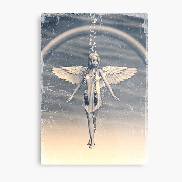 Angel under the Rainbow Metal Print