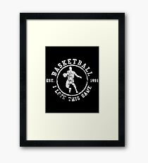 Basketball I Love This Game Used Look Retro Framed Print