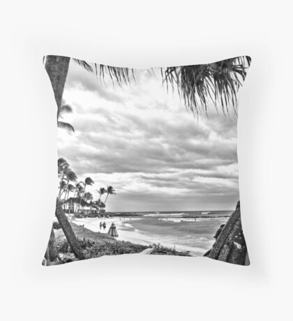 NuKumoi Point Poipu Throw Pillow