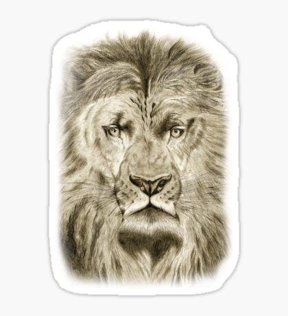 large lion tee Sticker