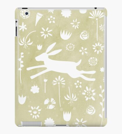 Hare in the Meadow iPad Case/Skin