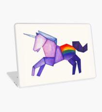 Origami Unicorn Laptop Skin
