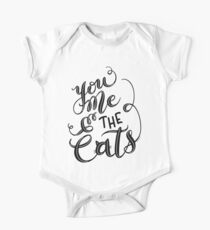 You Me and the Cats Hand Lettered Design Kids Clothes