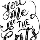 You Me and the Cats Hand Lettered Design by DoubleBrush