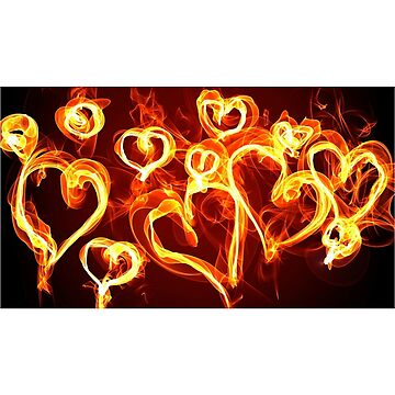 T-Shirt Hearts Burning by movedance