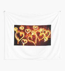 T-Shirt Hearts Burning Wall Tapestry