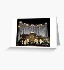 Monte Carlo..Las Vegas by Night Greeting Card