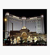 Monte Carlo..Las Vegas by Night Photographic Print
