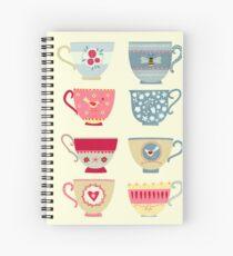 Tea Cups Spiral Notebook