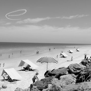 e citizens relaxing at the beach by edeology