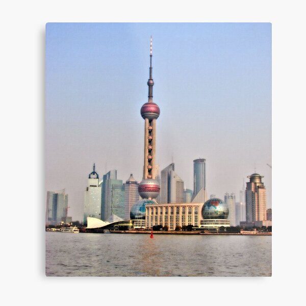 Shanghai View Metal Print