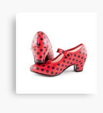 T-Shirt Flamenco Shoes Canvas Print
