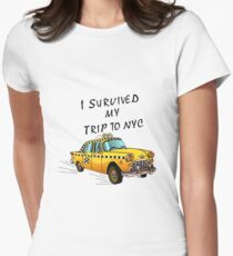 I Survived My Trip To NYC Womens Fitted T-Shirt