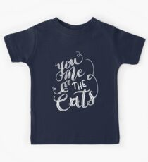 Cat Drawing You Me & the Cats Hand Lettering Design Kids Tee