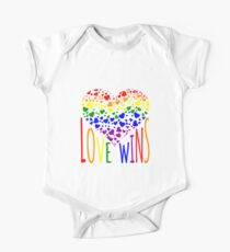 Love Wins, Marriage Equality T-Shirt design. Kids Clothes