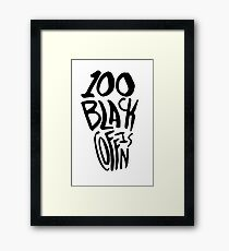 100 Black Coffins Framed Print