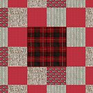 geometric patchwork quilt by gameover