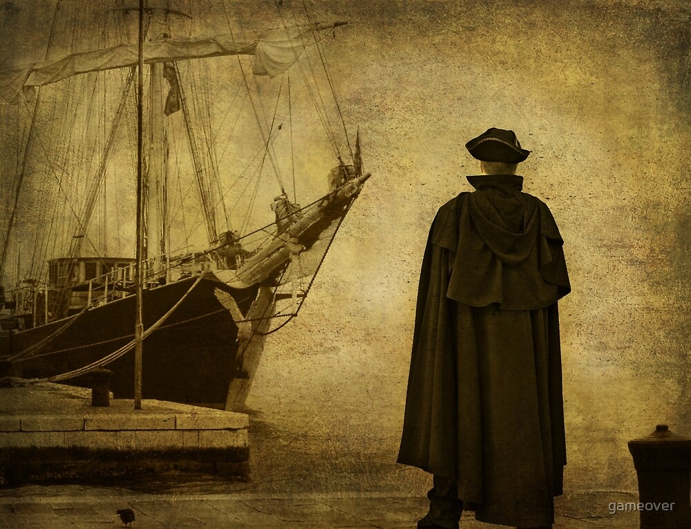 Time to leave, sea captain and his ship by gameover