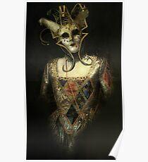 Dark Carnival, vintage mask fantasy Poster