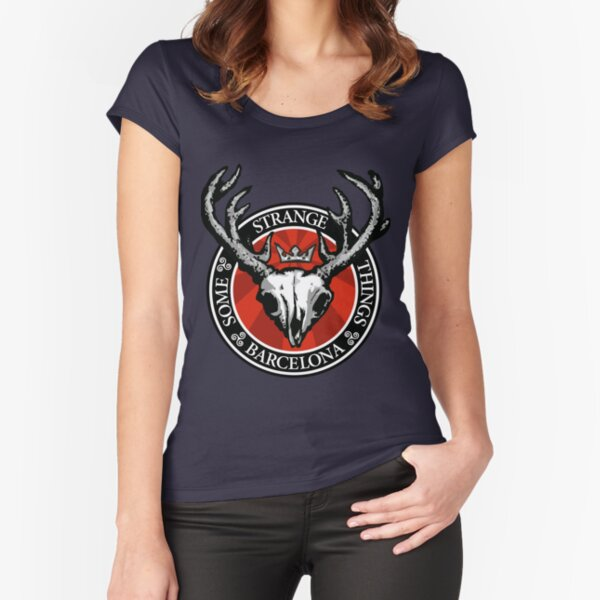 HORNY DEAD STUFF Fitted Scoop T-Shirt