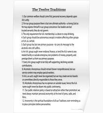 The 12 Traditions (12 Steps Also Available) Link Below in Artists Notes Poster