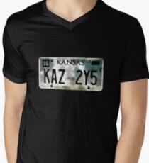 Supernatural Impala Kansas Plate Men's V-Neck T-Shirt