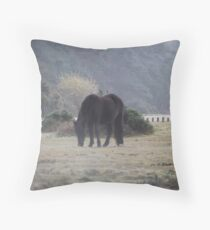 The Stallion of the Forest Throw Pillow