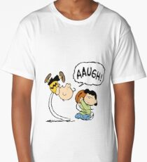 CHARLIE BROWN AND LUCY FOOTBALL Long T-Shirt