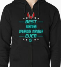 business opearions manager - solve and travel design Zipped Hoodie