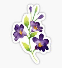 Purple flowers PAINTED NICE Sticker