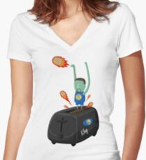 Klay Toaster Women's Fitted V-Neck T-Shirt