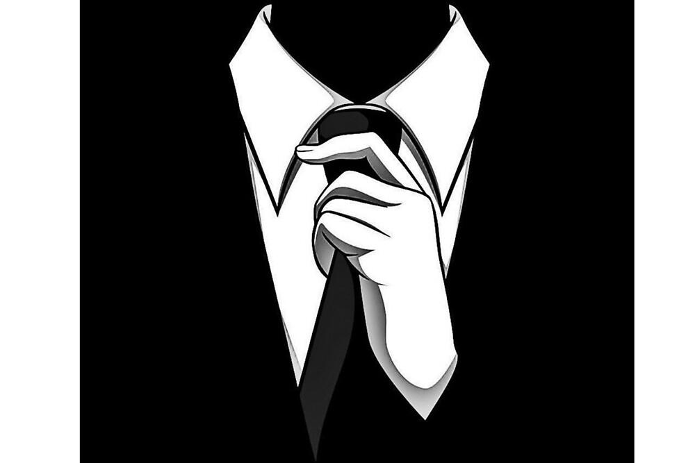 Cravate black & white by Kynio