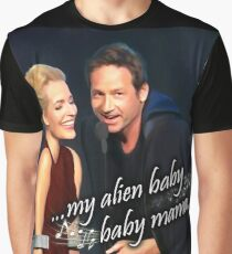 My alien baby baby mama painting with text Graphic T-Shirt