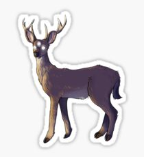 creepy deer Sticker