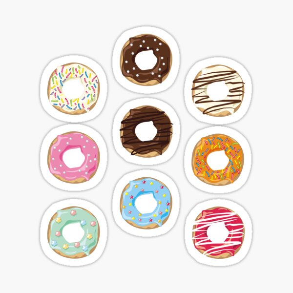 Donut Pattern Sticker
