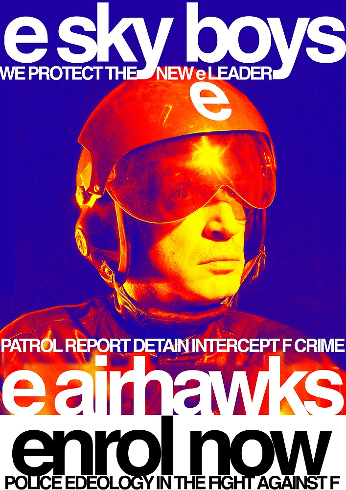 "airhawks ""e skyboys"" poster by edeology"