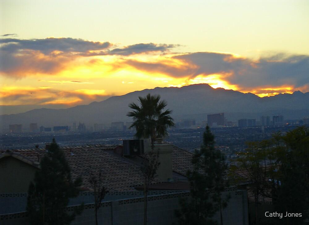 Sunset over Vegas by Cathy Jones