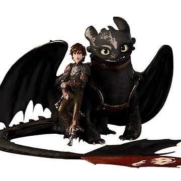 toothless with hiccup by levienb