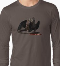 toothless with hiccup Long Sleeve T-Shirt