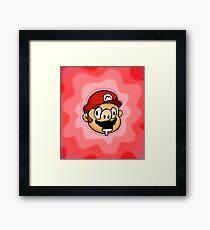 Drunk Super Mario Bros Framed Print