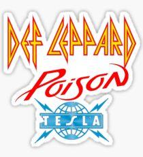 Def Poison tesla tour Sticker