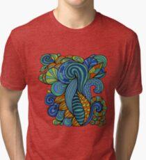 Colorful zen doodle psychedelic Tri-blend T-Shirt