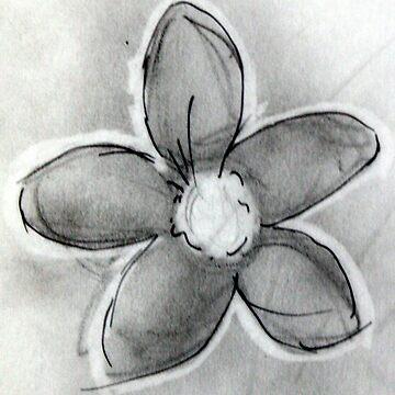 Artisan Flower Sketch Print 1 by rebeccagalardo