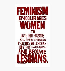 Feminism in Wherever Red Photographic Print