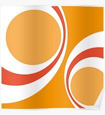 orange retro Poster