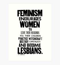 Feminism in Black & White Art Print